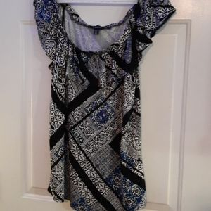 LE Chateau - Paisley Patterned Tee XXL